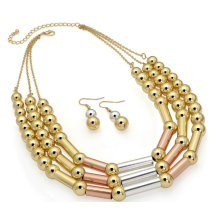 Multi Gold Bead Necklace Set