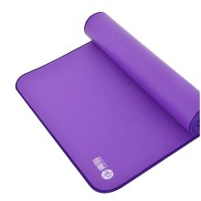 "Yoga Premium Mat Non-Slip and Durable 10mm 72.8x31.5"" [Purple]"