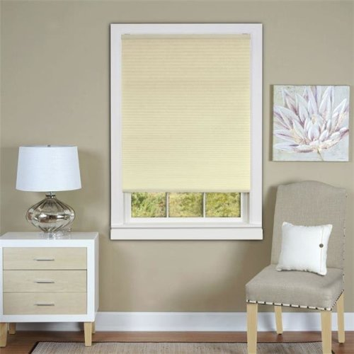 Honeycomb Cellular Alabaster Pleated Cordless Shade 29x64