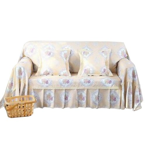 3 Seat Sofa Slipcover Elegant Couch Cover Furniture Protector #31