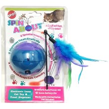 Spot Spin About Electronic Laser Cat Toy & Treat Dispenser-