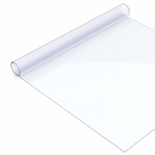 Clear Plastic Table Cover Acrylic Transparent Protector,2mm Thick, Rectangle, 1 Metre