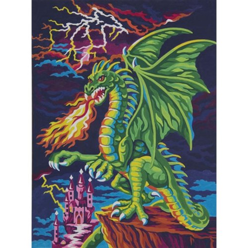 "Dpw91479 - Paintsworks Learn to Paint 9"" X 12""- Dragons Lair"