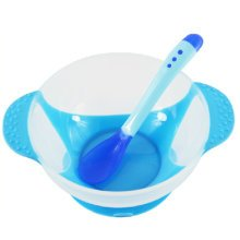 Temperature Sensing Color-changing Spoon And Bowl(Blue)
