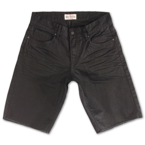Rivet De Cru Black Denim Shorts