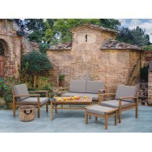 Sectional Outdoor Sofa Set - 5- Piece Patio Conversation Set - Grey - MANILA
