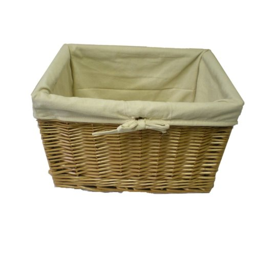 Handmade Buff Willow Storage Basket - Large