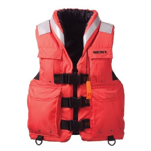 Kent Sar Search and Rescue Commercial Life Vest Persons over 90 Pounds Orange XX Large 48 52 Inch Chest