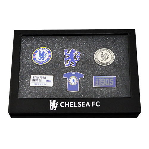 Chelsea F.c. 6 Piece Badge Set Official Merchandise - Fc Football New Gift -  6 piece badge set chelsea fc official football new gift merchandise