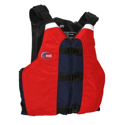 MTI Adventurewear APF All Person Fit PFD Life Jacket Red Navy Universal