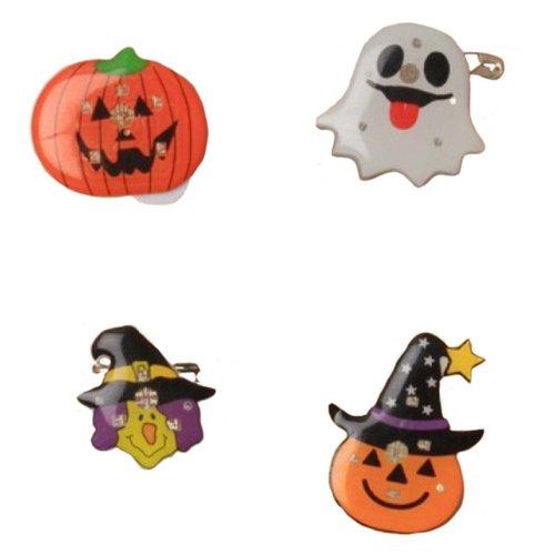 1955db30839 Halloween Flashing Pin Brooch Badge Witch Ghost Pumpkin Novelty Fancy Dress  Fun on OnBuy