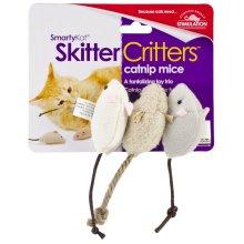 SmartyKat SkitterCritters Catnip Mice 3 Pack-