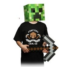 Minecraft Kids Union T Shirt, Black Size Extra Small