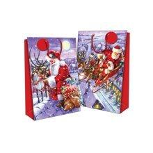 Seasons Greetings Super Jumbo Gift Bags - Traditional Santa - Set 2 Christmas -  santa set 2 super jumbo christmas gift bags sacks 27x18 traditional