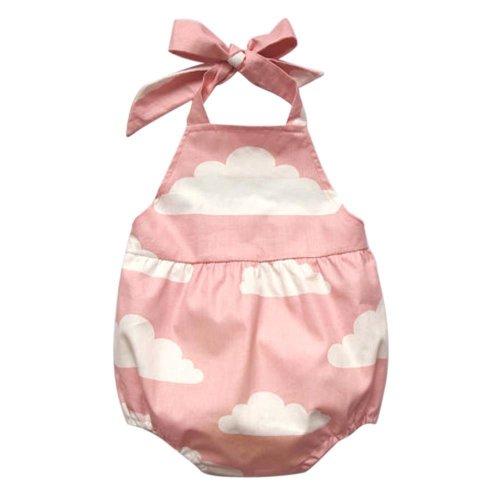 Girls Romper Newborn Infant Baby Girls Sleeveless Clouds Print Romper Jumpsuit Beach Clothes