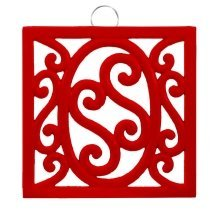 Cast Iron Trivet, Red