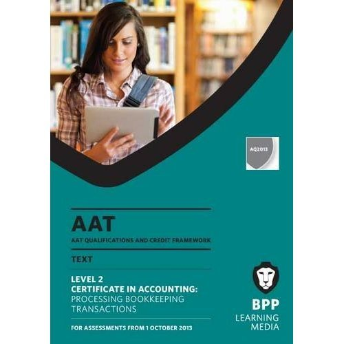 AAT Processing Bookkeeping Transactions: Study Text