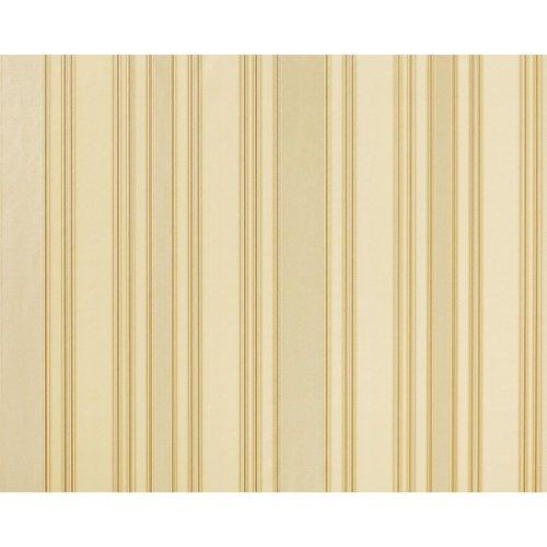 EDEM 980-33 Luxury stripe non-woven wallpaper oyster white cream gold 10.65 sqm
