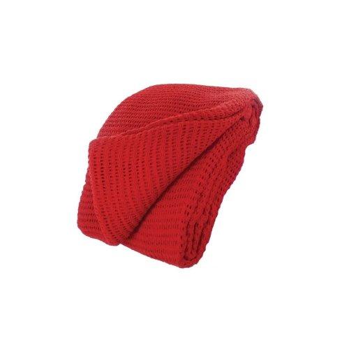 HypaGuard Red Cotton Cellular Blanket - 150 x 200cm