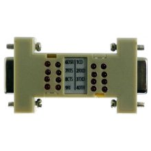 Test RS232 RS-232 DB9 DB-9 Port Mini Loopback Tester Checker with LEDs