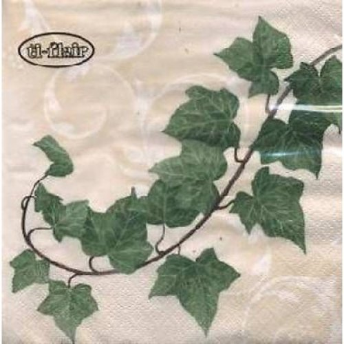 4 x Paper Napkins- Ivy -Ideal for Decoupage / Napkin Art