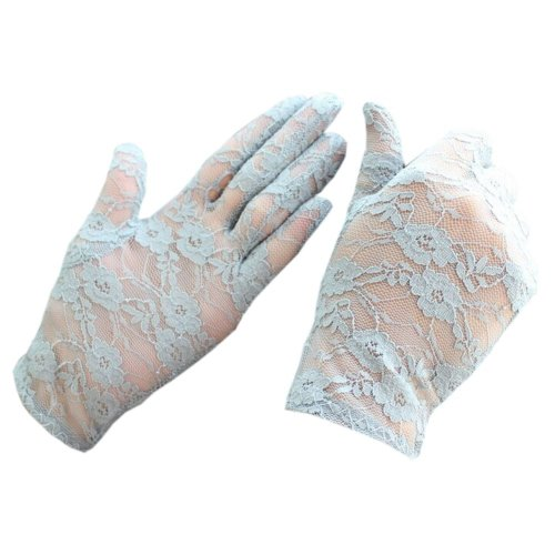 Womans Gray [Fairy Tale] Sexy Floral Lace Gloves Party Driving Wedding Gloves