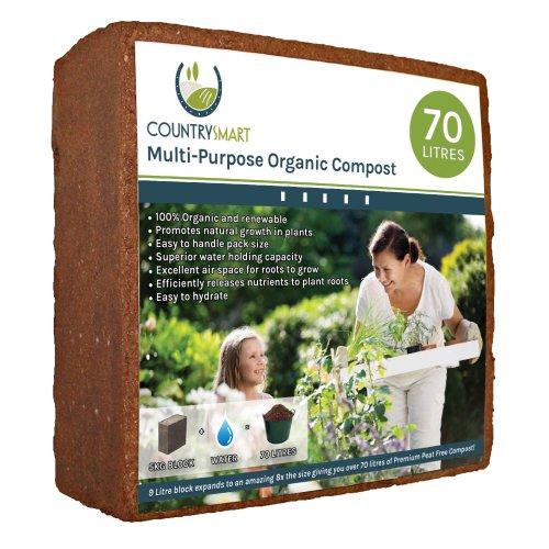 Peat Free Coco Coir Compost - 5kg Block, 70 Litres