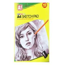 45 Sheets A4 Artist Sketch Pads With 70gsm White Paper.