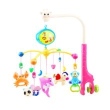 341 Contents in Chinese Musical Soothe Dreams Mobile,Animal Pink