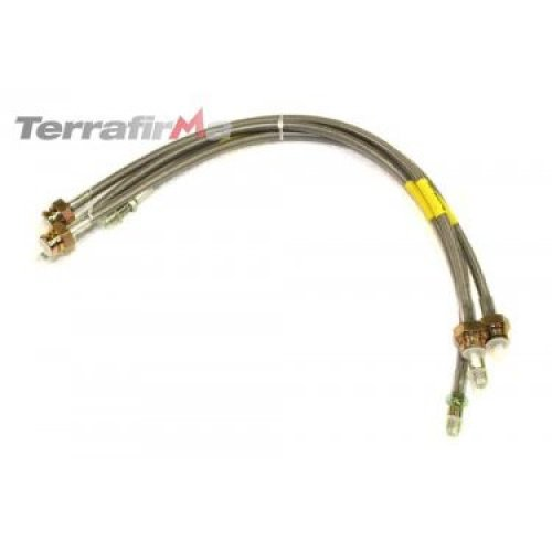 "TERRAFIRMA +2"" Steel Brake Hoses for Land Rover Discovery 1 94-98 +ABS TF608L"