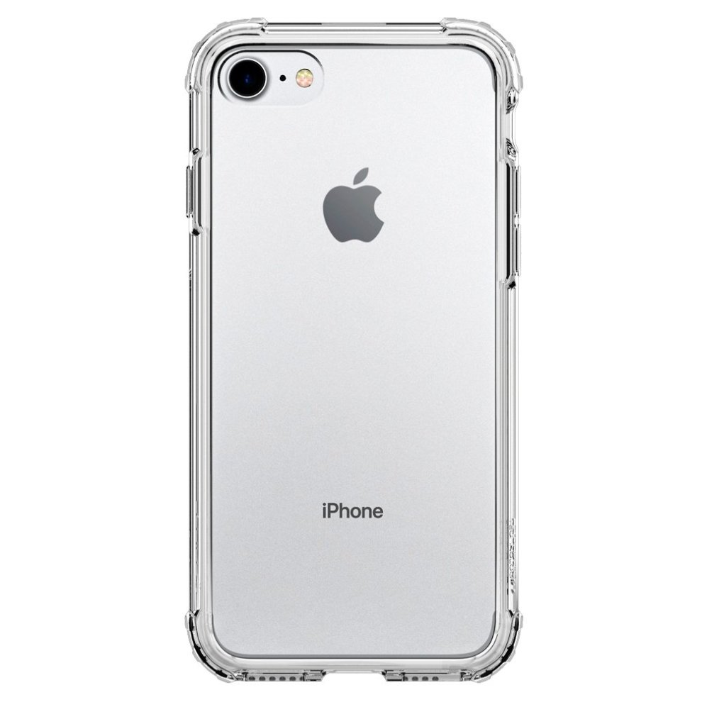 lowest price 16301 54cd5 Apple iPhone 8 / iPhone 7 Case, Spigen [Crystal Shell] Extra Shock Absorb  [Clear Crystal] Clear Back Panel Engineered TPU Bumper Phone Case Cover...