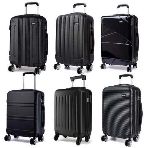 KONO Suitcase Luggage Travel Bag Hard Shell Trolley Case Black 28 Inch