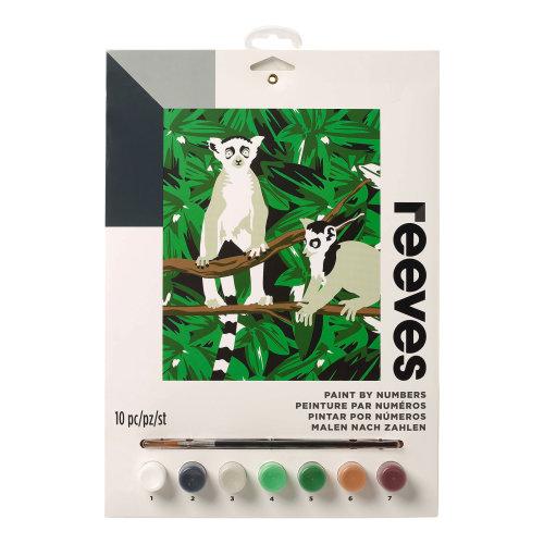 Reeves Painting By Numbers - Lemur Medium