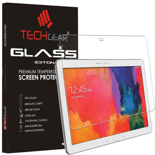 TECHGEAR GLASS Edition fits Samsung Galaxy Tab Pro 12.2 (SM-T900 / SM-T905) - Genuine Tempered Glass Screen Protector Guard Cover Compatible with...