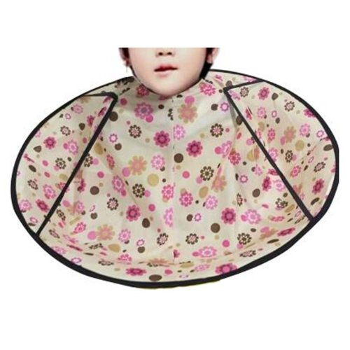 Professional Kid Hair Cutting Cape Baby Styling Salon Waterproof Cloak, Flower