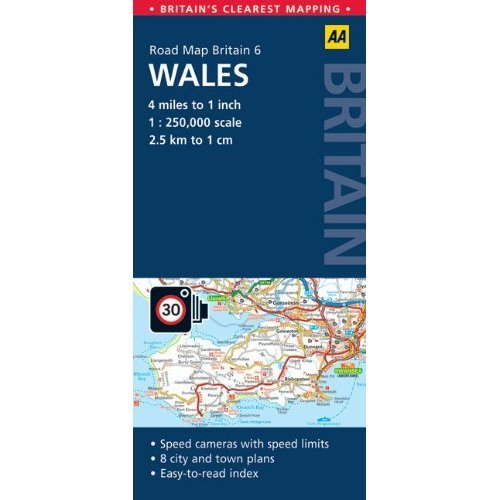 6. Wales (AA Road Map Britain)