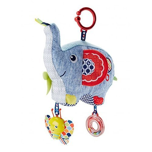 Fisher-Price DYF88 Activity Elephant New-Born or Baby Sensory Soft Toy Rattle