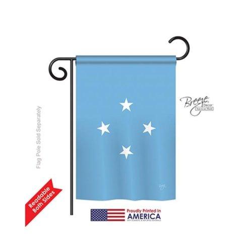 Breeze Decor 58352 Micronesia 2-Sided Impression Garden Flag - 13 x 18.5 in.