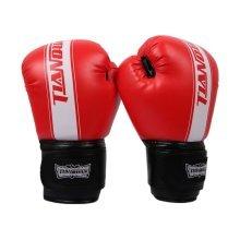 Boxing - Kickboxing Glove Full Finger Gloves -MMA 3 -----Red