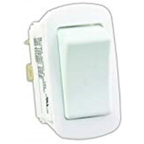 JR Products 0305.1595 Water Resistant On-Off Switch, White