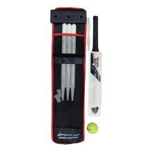 Amber Cricket Gear Cricket Set- 1 Bat Cricket Ball Bail set Stumps