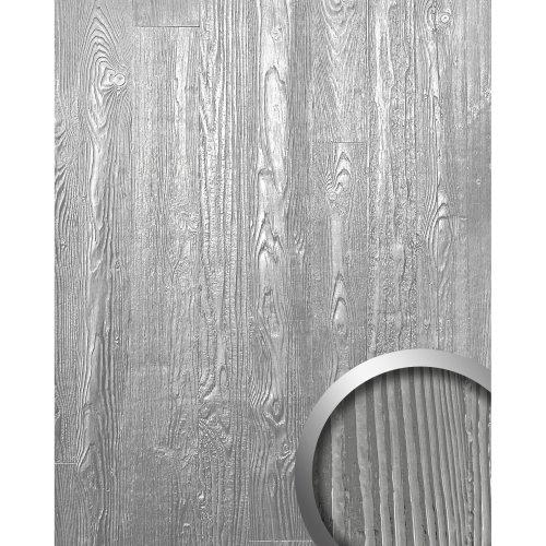 WallFace 14808 WOOD Wall panel wallcovering decor metal grey white   2.60 sqm