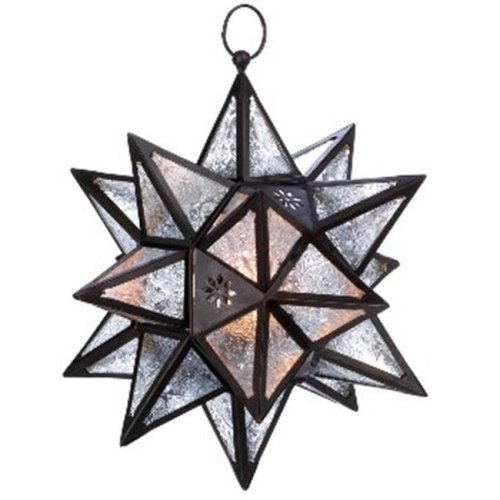 Zingz & Thingz 57070467 Moroccan Hanging Star Candle Lantern