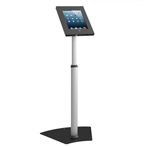 Secure iPad Floor Stand, Key Lock, Adjustable Height