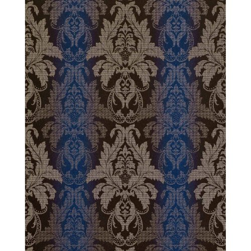 EDEM 770-37 luxury embossed damask barock wallpaper brown blue silver | 5.33 sqm