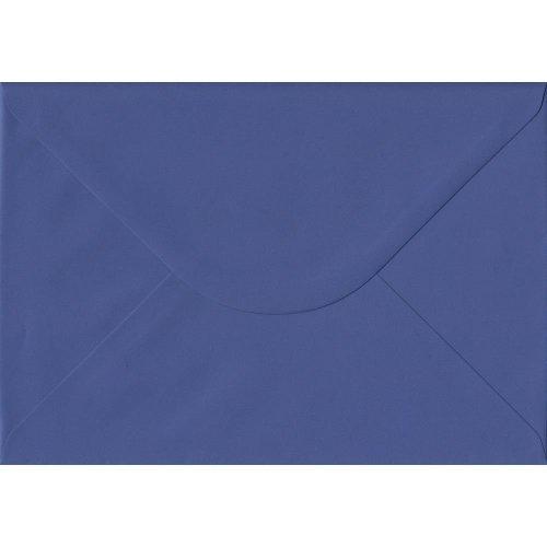 Iris Blue Gummed C5/A5 Coloured Blue Envelopes. 100gsm FSC Sustainable Paper. 162mm x 229mm. Banker Style Envelope.