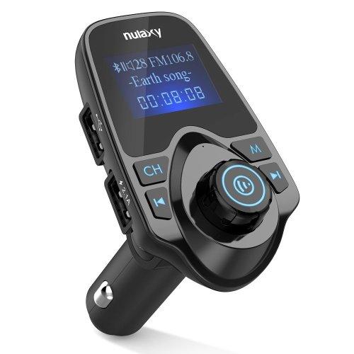 [Upgraded Version] Nulaxy Wireless In-Car Bluetooth FM Transmitter Radio Adapter