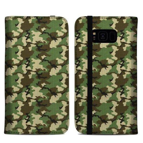 DecalGirl SGS8PFC-WCAMO Samsung Galaxy S8 Plus Folio Case - Woodland Camo