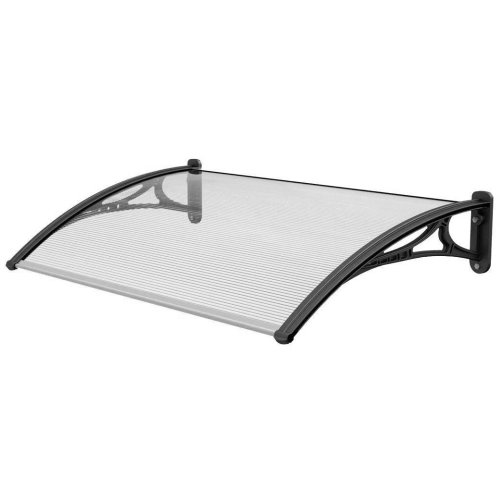 High Quality all Weather Stability Black 1.4m Door Canopy (CP0007)
