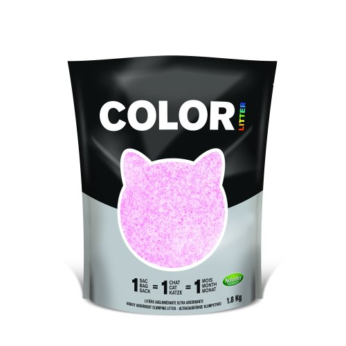 Color by Nullodor Clumping Silica Cat Litter 1.8 kg Pink